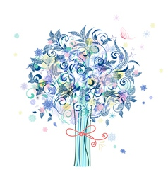Tree flowers vector