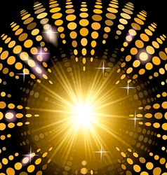 Version disco background with light effects vector image