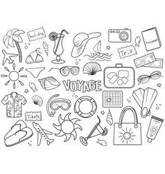 Voyage colorless set vector image