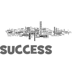 What is success text word cloud concept vector