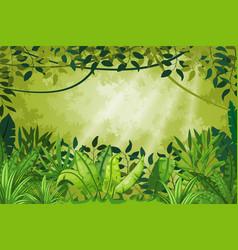 Jungle landscape vector