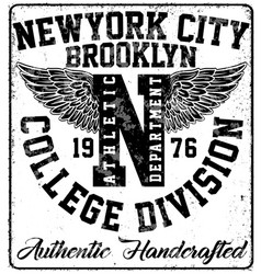 College new york typography t-shirt graphics vector
