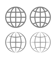 Earth globe emblem set vector