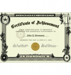 Business certificate vector