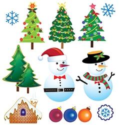 Retro Christmas Element vector image