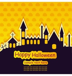 Halloween template frame vector