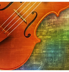 abstract green music grunge background violin vector image