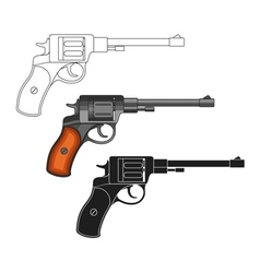 Set of revolvers vector