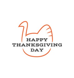Happy thanksgiving day title logo with text and vector