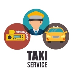 Transport service design vector