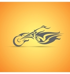 Motorcycle label badge abstract motorcycle vector