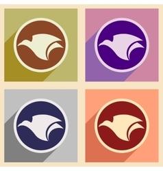 Assembly logo flying eagle vector