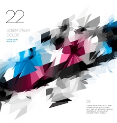 Abstract polygonal template design vector image vector image
