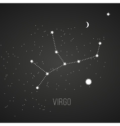 Astrology sign virgo on chalkboard background vector