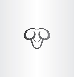 black ram head icon vector image vector image