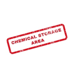 Chemical storage area text rubber stamp vector