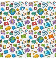 Color Sticker mobile apps pattern vector image