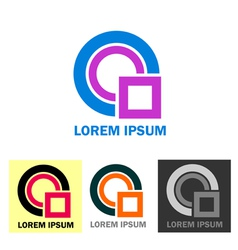 Colorful business logo icons vector image