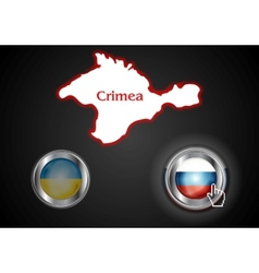 Conceptual view of the situation in crimea vector