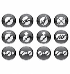 gadget icons vector image vector image