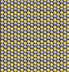Gold and silver crystal sequins seamless pattern vector