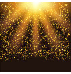 golden falling sparkling particles and stars vector image vector image