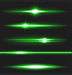 Green laser beams pack vector