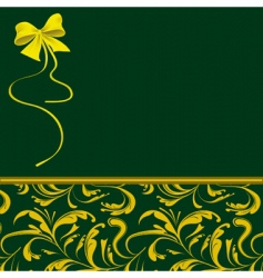 green packaging for holiday gifts vector image vector image