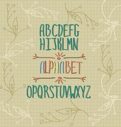 Handwritten alphabet vector