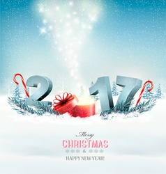 Happy new year 2017 New year design template vector image vector image
