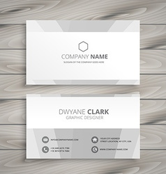Minimal white business card vector