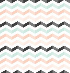 Mint peach black shadowed chevron pattern vector