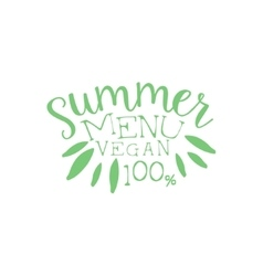 Summer menu vegan calligraphic cafe board vector