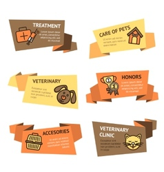 Veterinary Banner Set vector image vector image