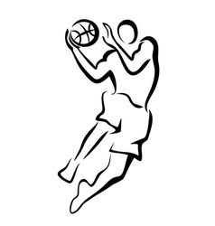 Basketball player in jump vector