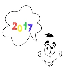 2017 year looking forward vector