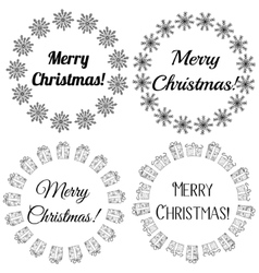 Merry Christmas stamps tags vector image