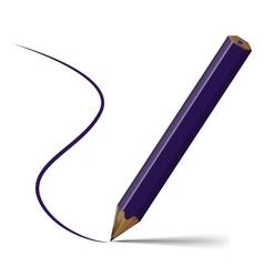 Violet pencil vector