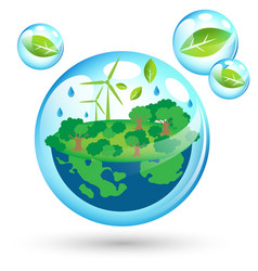 Eco friendly world for earth day vector