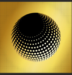 set abstract halftone 3d spheres 36 vector image