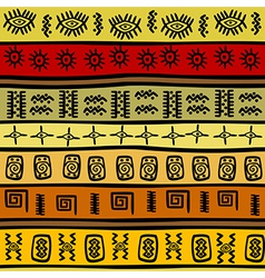 African ethnic pattern tribal vector