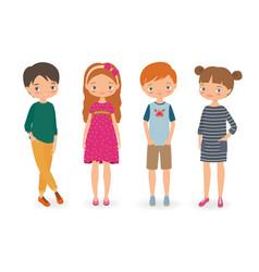 Fashion stylish kids vector