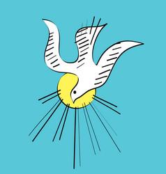 Dove holyspirit sketch vector