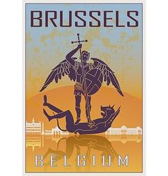 Brussels vintage poster vector image