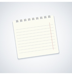 Modern notebook on gray background eps10 vector