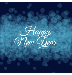 happy new year card light background vector image
