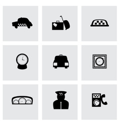 Taxi icon set vector