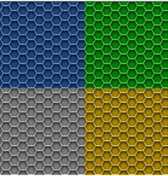 Honeycomb patterns vector