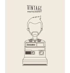 Retro style photo vector