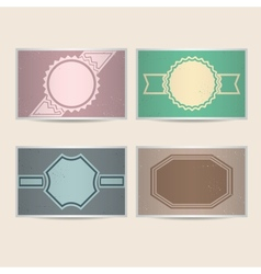 Set of retro cards vector image